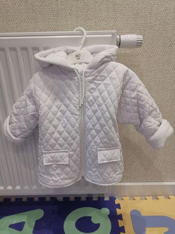 Biała kurtka dla chłopca /dziewczynki  r. 80. Bardzo ciepła.