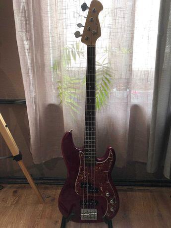 Gitara basowa + combo: Harley Benton PJ-4 HTR + Harley Benton HB-20B