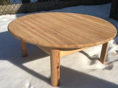 Stół drewniany okrągły średnica 110cm wysokość 45cm