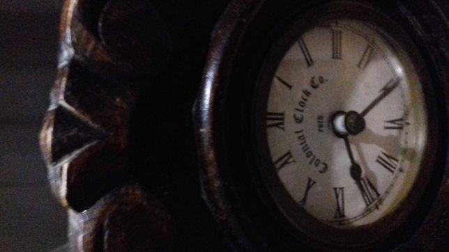 Drewniany zegar retro Almi Decor-)