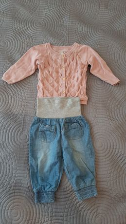 Ubranka dla dziewczynki, sukienka H&M, body, spodnie, Cool Club