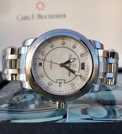 Новые Carl F. Bucherer Patravi AutoDate Automatic Steel Watch MOP Dial