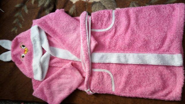 Тёплый халат для девочки