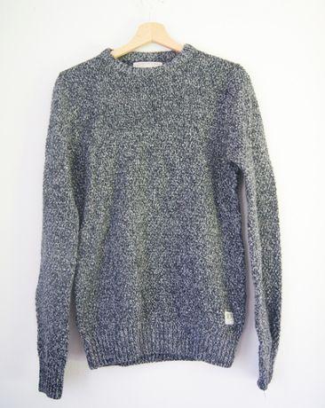 sweter męski jack&jones S odcienie niebieskiego