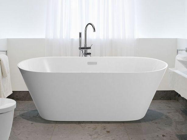 Banheira autónoma 150 cm em acrílico branco HAVANA - Beliani