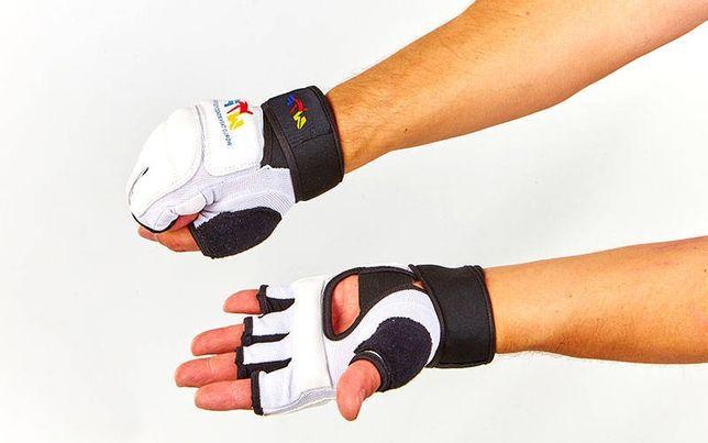 Защита кисти накладки битки перчатки карате ММА кожа кожзам ткань