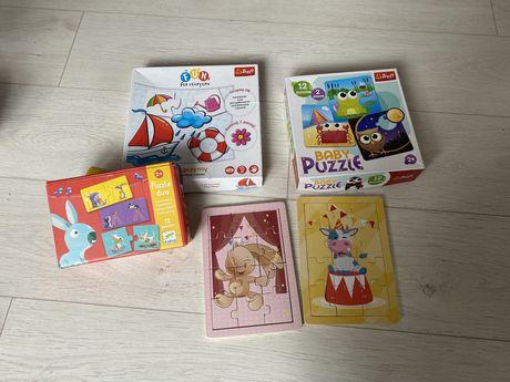 Puzzle 2+ dla dwólatka Djeco, Trefl ZESTAW