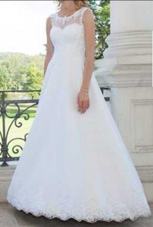 Biała suknia ślubna + dodatki