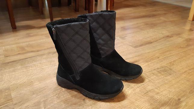 Kozaki, kozaczki, buty zimowe dziewczęce 37