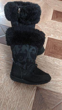 Сапожки сапоги ботинки чобітки для девочки дутики timbeland