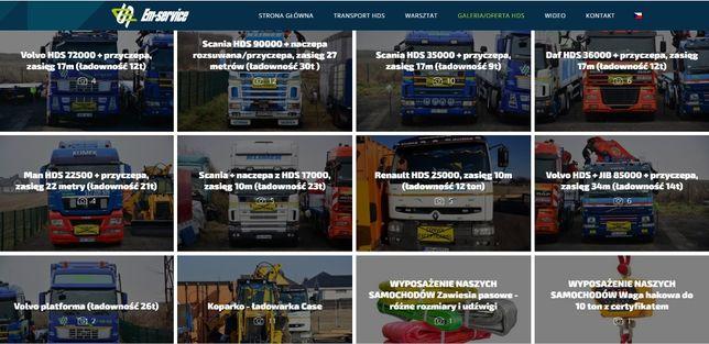 Usługi transportowe HDS dźwig transport żuraw NAJLEPSI