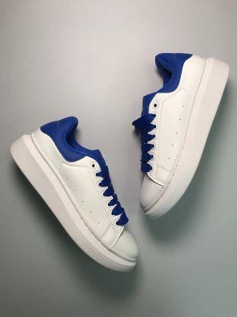 Кроссовки Alexander McQueen White Blue   кросівки Женские маквин