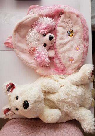Różowy plecak dla dziewczynki, plecaczek piesek
