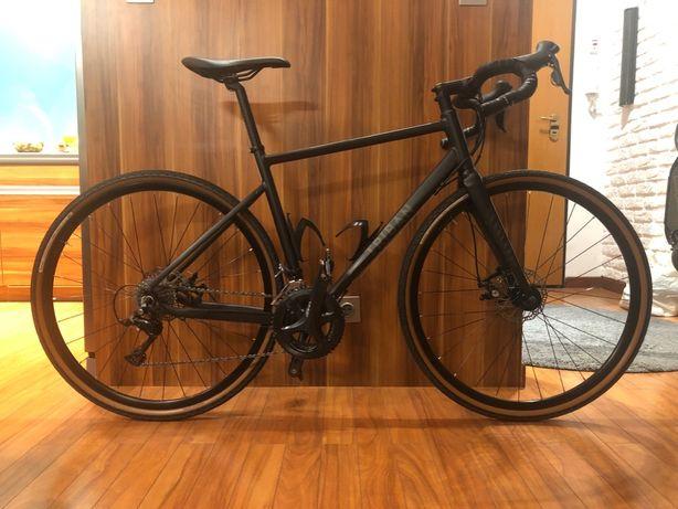 Rower szosowy gravel Triban RC 500, hamulce tarczowe, Sora, rozmiar M