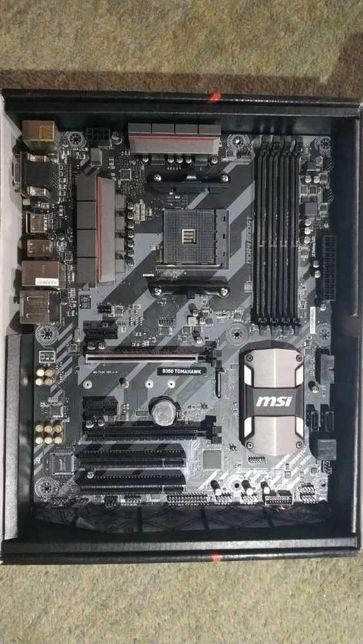 Материнская плата MSI Tomahawk B350 AM4 для CPU Ryzen с видео Vega