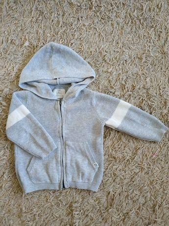 Sweterek Zara 86, chłopiec, szary