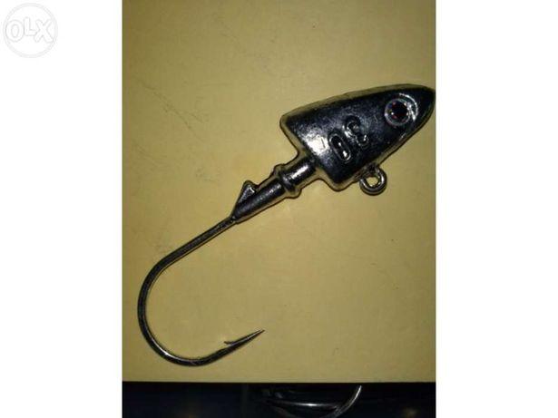 Pesca Cabeçotes Jig Heads VMC de20 e 30 grs.
