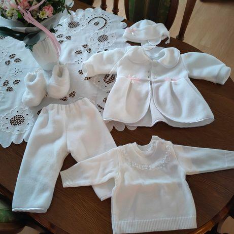 Śliczne ubranko zestaw dziewczynka 68-74, chrzest lub inna uroczystość