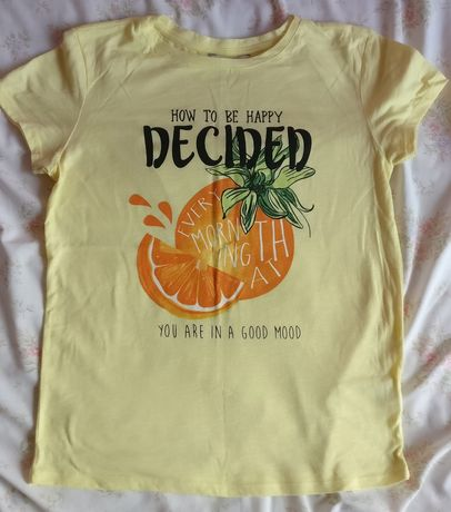 Żółta bluzka t-shirt pomarańcza C&A