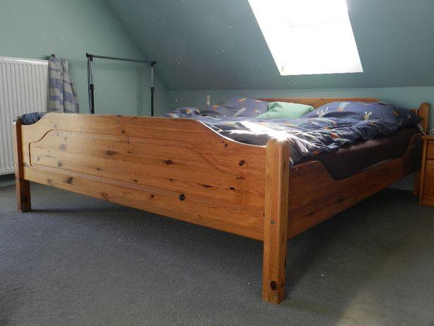 łóżko drewniane 188x213cm