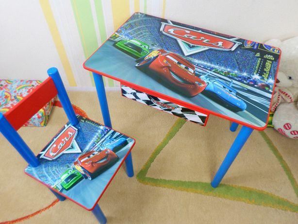 """Детский столик и стул """"Тачки-Машинки"""" стол-парта стульчик от1 до 7 лет"""