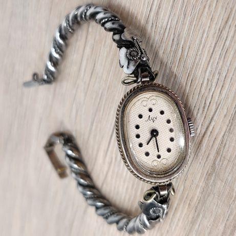Механические женские часы Луч Винтаж