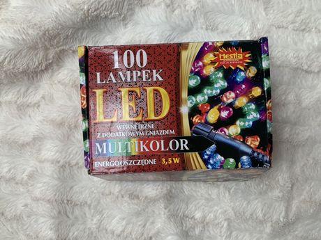 100 lampek wewnetrznych LED mulikolor