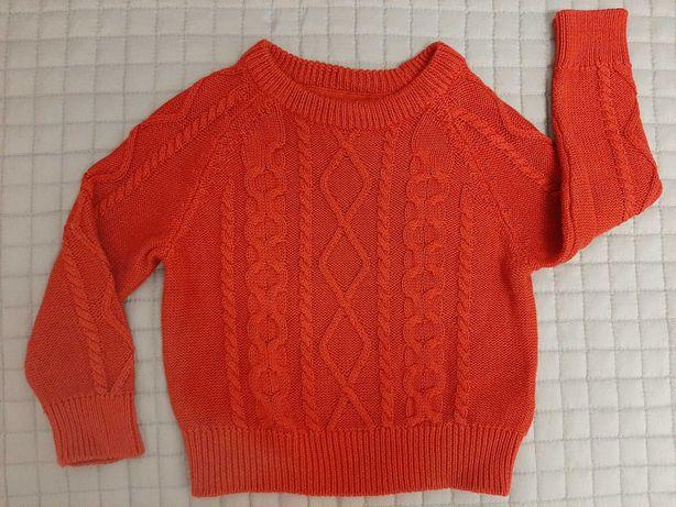 Sweterek czerwony h&m, rozm 92