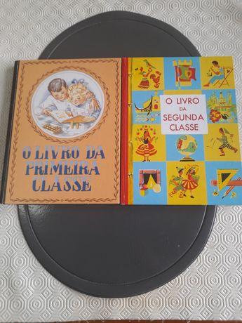 Livros vintage 1 classe e 2 classe