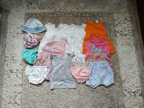 Пакет літніх речей для дівчинки 6-12 міс.