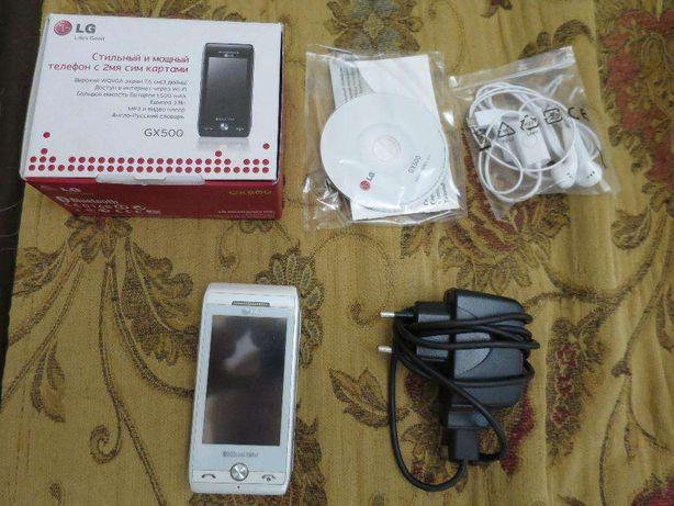 Сенсорный телефон на две симки LG GX500