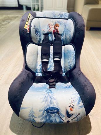 Śliczny fotelik samochodowy Frozen 0-10 kg