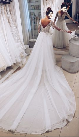 Suknia ślubna Patrycja Pardyka + tren