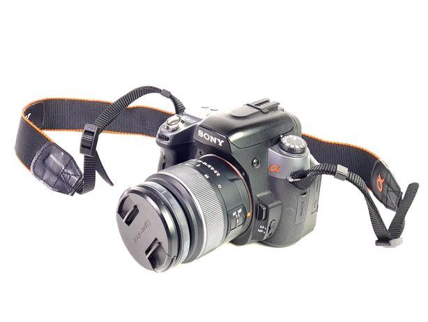 Lustrzanka Sony A550 korpus + obiektyw