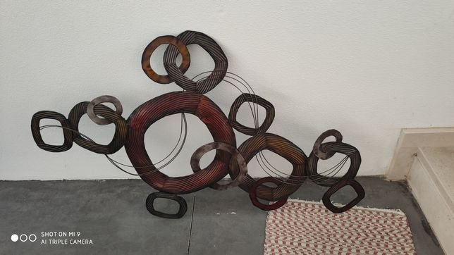 Quadro decorativo em metal