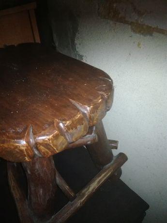 Stół z krzesłami rękodzieło komplet
