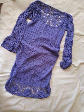 Платье вязаное крючком, ручная работа