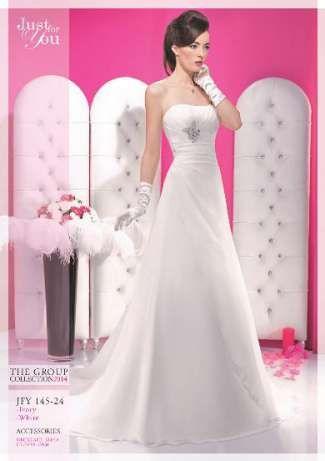 Vestido de noiva com acessórios
