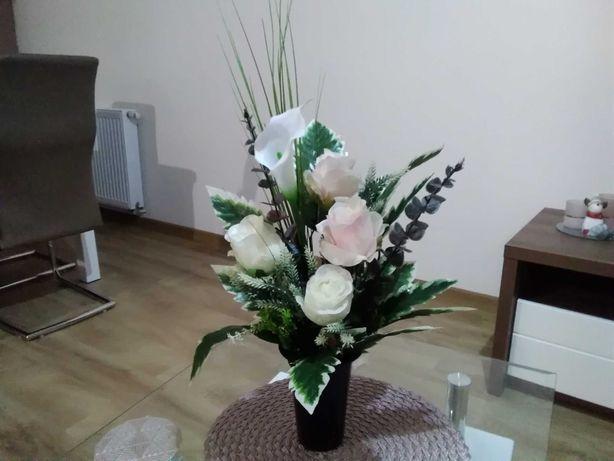 Bukiet do wazonu, cmentarz, sztuczne kwiaty