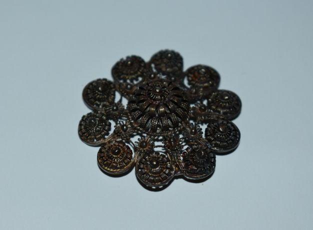 интересная брошь серебро 800 проба скань вес 12,25 грамм на восстановл