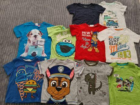 Koszulki t-shirt r 92 zestaw 11szt psi patrol f&f h&m disney