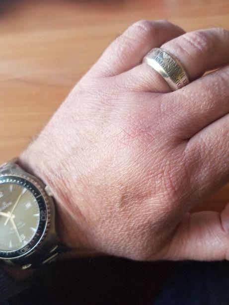 Мужское кольцо Emporio Armani серебо original