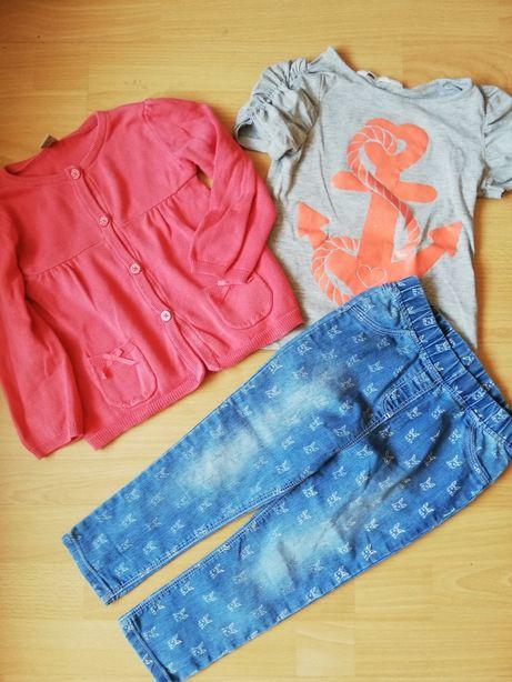 Sweterek spodnie bluzka roz 92-98