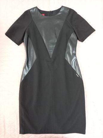 Czarna sukienka Ette Lou. Skóra eco