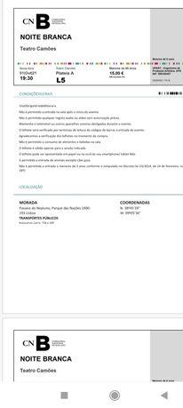 2 bilhetes Noite Branca - Companhia Nacional de Bailado (+65 anos)
