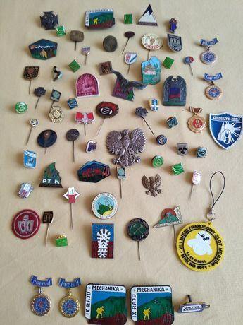 Odznaka odznaczenie wpinka przypinka medal kolekcja zbiór 69 sztuk.
