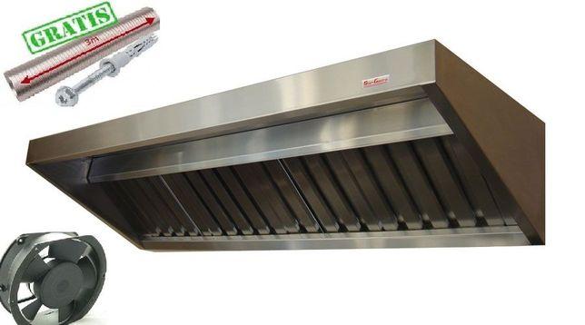 Okap Gastronomiczny 1500x700x400 S Wentylator Filtry Rura 3m Wysyłka