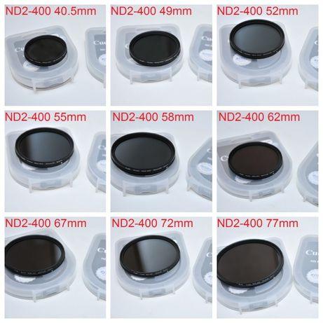 ND2-400 Переменный ND фильтр 40.5/49/52/55/58/62/67/72/77/82 mm Cuely