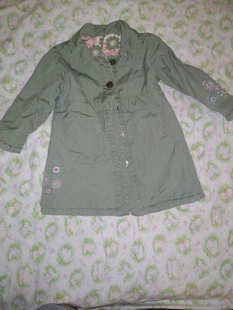 Плащ пальто демисезонный для девочки на 1-2года