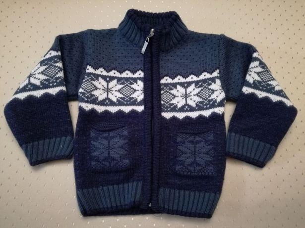 Sweterek sweter góralski dziecięcy niemowlęcy granat
